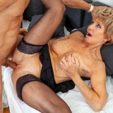 helpful senior consultant lady helping a young bro out with hand and blowjob picture 11