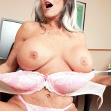 The horniest secretary ever - Sally D'Angelo (85 Photos) - 60 Plus MILFs picture 13