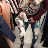 grandmother flashing her tits and pussy in department store picture 7