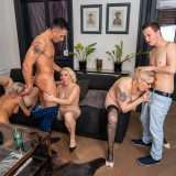 a overcrowded granny gangbang - 4 oldies sharing 2 young dicks picture 9