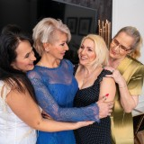a overcrowded granny gangbang - 4 oldies sharing 2 young dicks picture 3